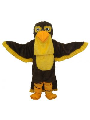 Black-Yellow Hawk Mascot Costume