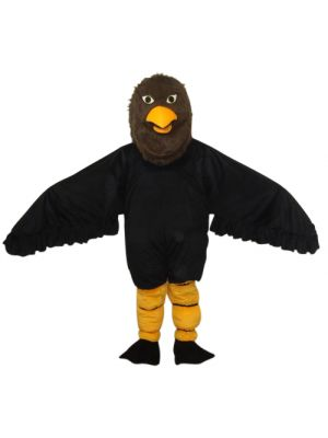 Black Hawk Eagle Goshawk Mascot Costume