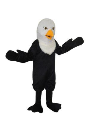 Bald White Eagle Mascot Costume