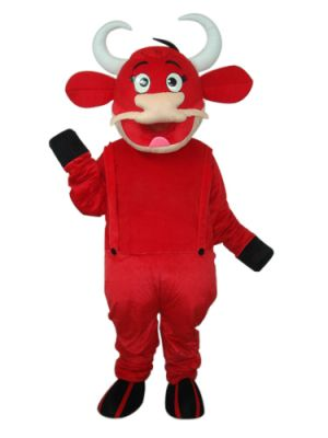 Red Ox Cow Mascot Costume