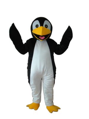 Penguin in Black Mascot Costume