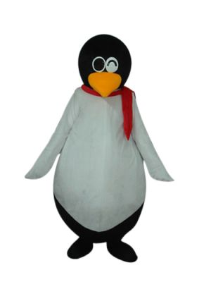 Mr. Round Belly Penguin Mascot Costume