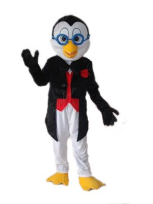 Penguin in and Glasses Mascot Costume