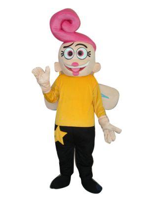 Pink Frog Angel Mascot Costume