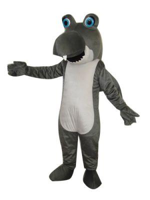 Grey Shark Mascot Costume
