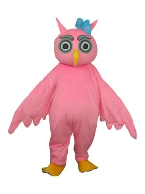 Beautiful Pink Owl Lovely Mascot Costume