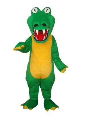 Green Crocodile Halloween Mascot Costume