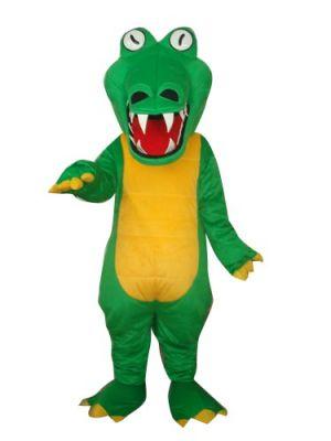 Green Crocodile Halloween Mascot Costume