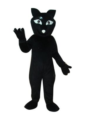 Black Fox Mascot Costume