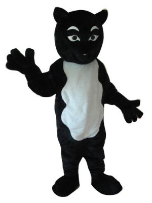 Black Fox White Belly Mascot Costume