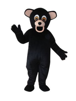 Black Grizzly Bear Teddy Mascot Costume
