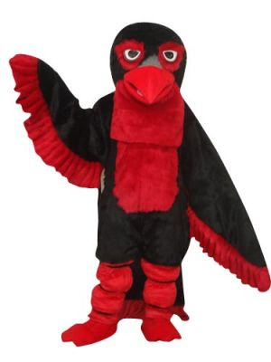 Black and Red Giant Eagle Mascot Costume