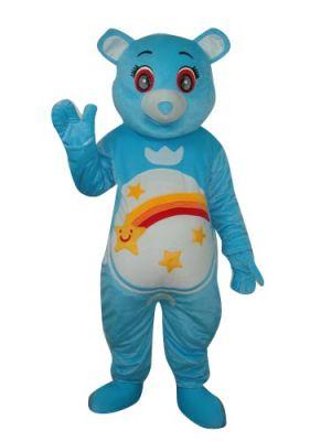 Blue Bear Rainbow Mascot Costume