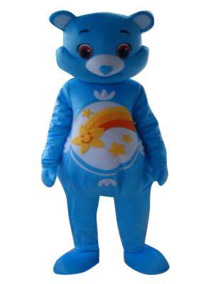 Blue Care Bear Rainbow Mascot Costume