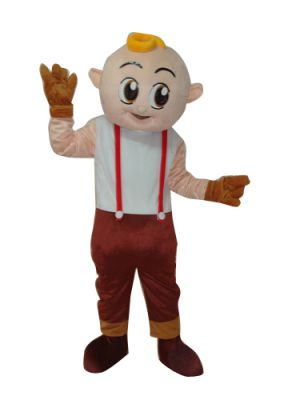 Bob Worker in Bib Pants Mascot Costume