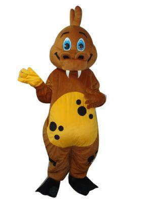 Brown Dinosaur Dragon Mascot Costume