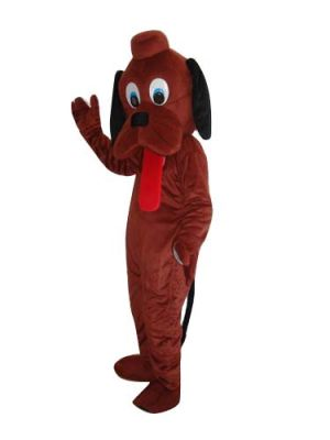 Brown Dog Puppy Long Tongue Out Mascot Costume