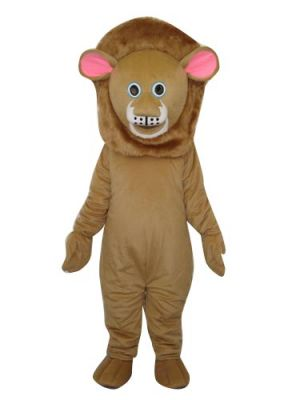 Brown Lion Clothing Mascot Costume