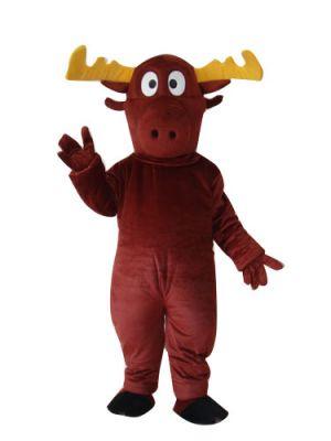 Brown Christmas Deer Mascot costume