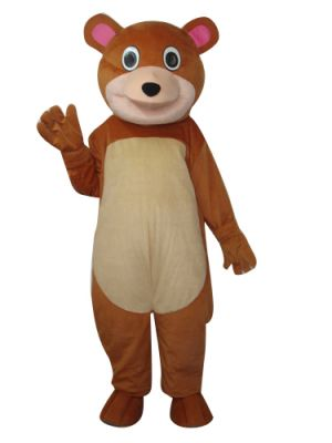 Brown Teddy Bear Mascot Costume