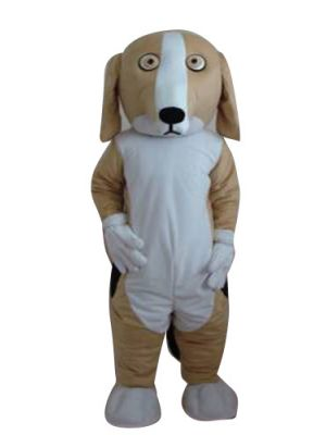 Brown & White Dog Mascot Costume