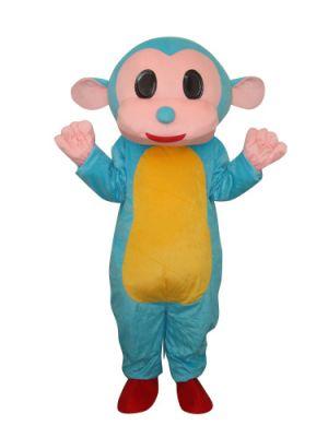 Blue Monkey Mascot Costume
