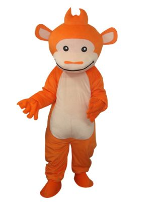 Cute Orange Gorilla Monkey Mascot Costume