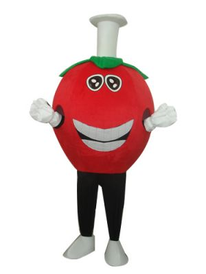 Cute Red Strawberry Big Smile Mascot Costume