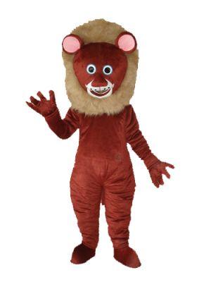 Dark Brown Lion Mascot Costume