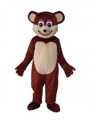 Dark Brown Smile Teddy Bear Mascot Costume