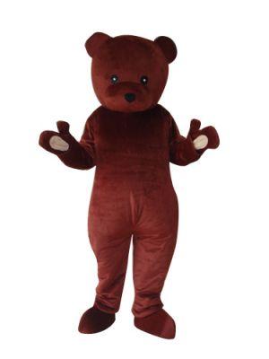 Dark Brown Teddy Bear Mascot Costume