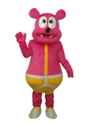 Deep Pink Bear Monster Mascot Costume