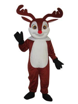 Deer Moose Red Nose Clothing Mascot Costume