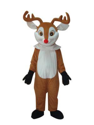 Red Nose Deer Moose Reindeer Mascot Costume