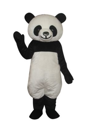 Deluxe Long Plush Panda Bear Mascot Costume