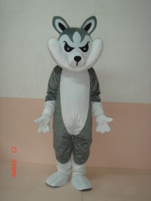 Big Grey Wolf Mascot Costume