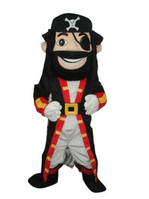 Blackbeard Pirate Captain Mascot Costume