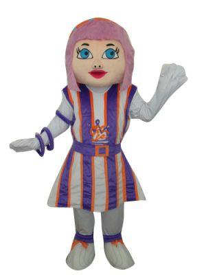 Girl Purple Hair Mascot Costume