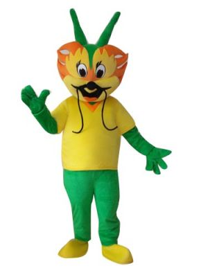 Green Dragon King Mascot Costume