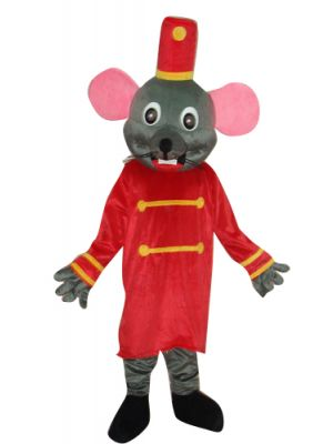 Grey Gray Mouse Rat in Royal Guard Mascot Costume