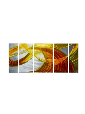56'' X 24'' Abstract Flow Ribbon Metal Wall Art Home Decor Painting