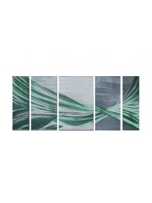 56'' X 24'' Green Flow Ribbon Metal Wall Art Painting Home Decor USA Free Shipping