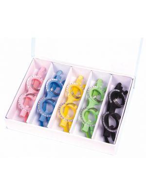 5 pcs Grey/Color Optical Lens Trial Frame Eyeglass Optometry TF-C