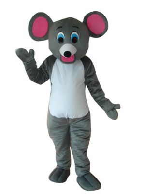 Little Grey Mouse Rat Lovely Mascot Costume