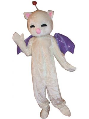 Lovely Angel Cat Mascot Costume