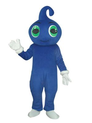 Lovely Blue Genius Baby Mascot Costume