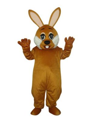 Lovely Brown Rabbit Bunny Hare Mascot Costume