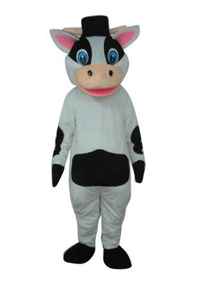 Cool Black & White Male Cow Clothing Mascot Costume