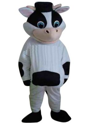 Male Dairy Cow Clothing Mascot Costume