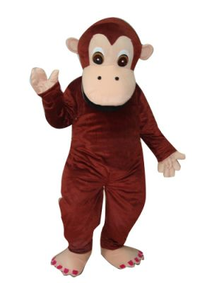 Discount Children Adult Size Monkey Gorilla Red Mascot Costume Fursuit